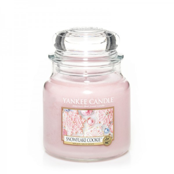 Yankee Candle Classic Mittleres Glas Snowflake Cookie