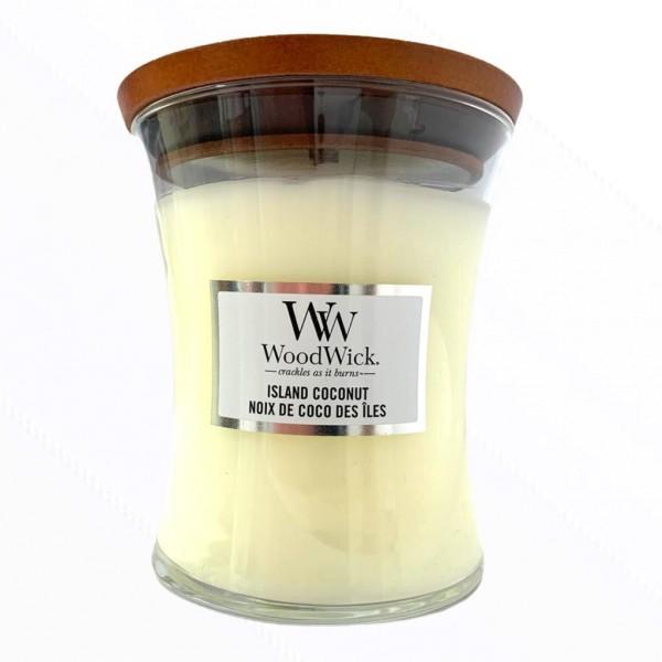 Wood Wick Candle Kleines Glas Island Coconut