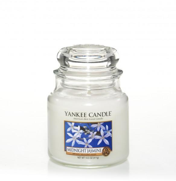 Yankee Candle Klassik Mittleres Glas Midnight Jasmine
