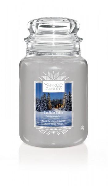 Yankee Candle Klassik Großes Glas Candlelit Cabin