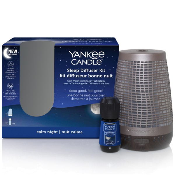 Yankee Candle Sleep Diffuser Bronze Kit Calm Night