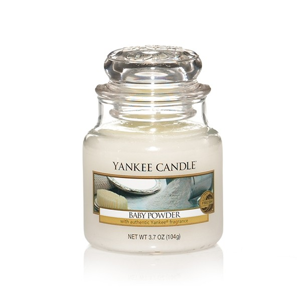 Yankee Candle Classic Kleines Glas Baby Powder