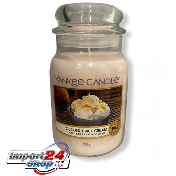 Yankee Candle Classic Großes COCONUT RICE CREAM