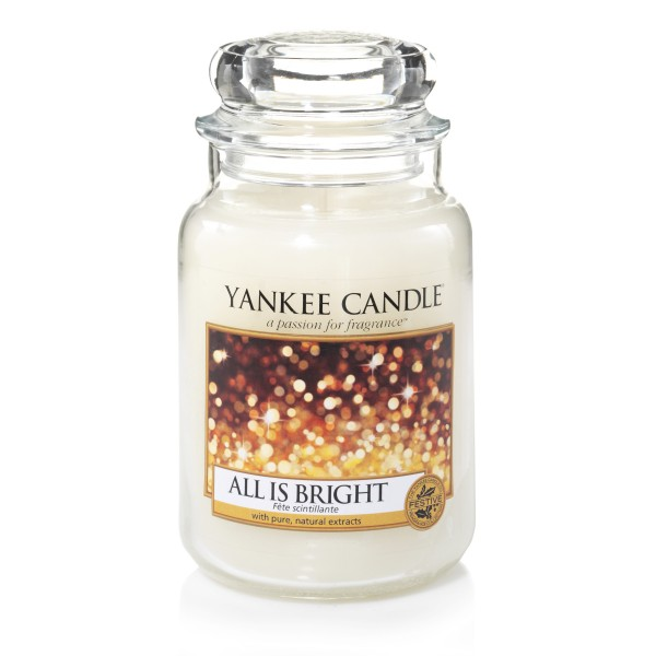 Yankee Candle Classic Großes Glas All is Bright