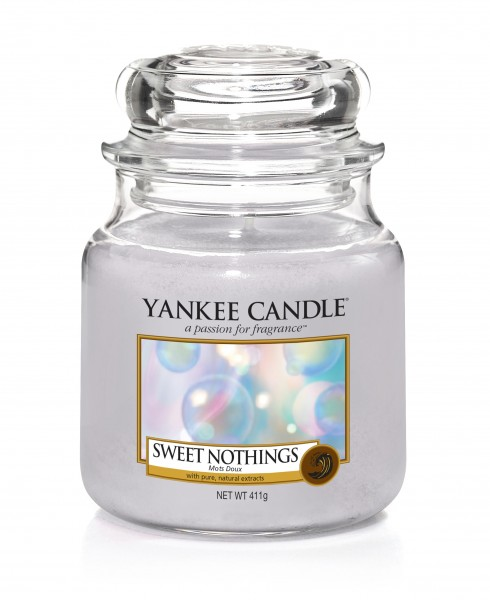 Yankee Candle Classic Mittleres Glas Sweet Nothings