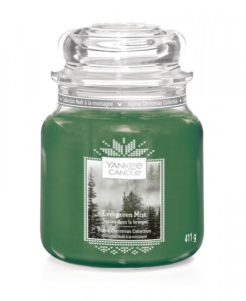 Yankee Candle Classic Mittleres Glas Evergreen Mist