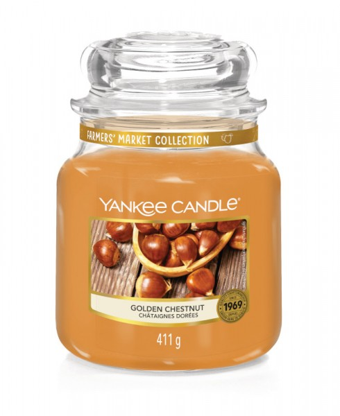 Yankee Candle Classic Mittleres Glas Golden Chestnut