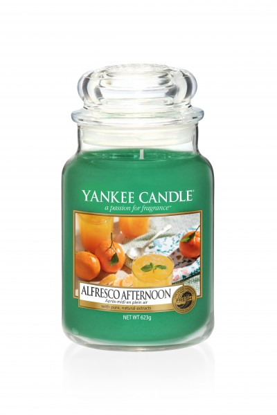 Yankee Candle Classic Großes Glas Alfresco Afternoon