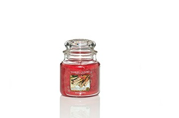 Yankee Candle Classic Mittleres Glas Sparkling Cinnamon