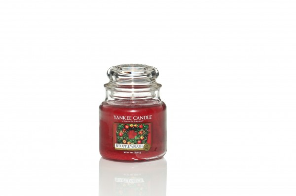 Yankee Candle Classic Mittleres Glas Red Apple Wreath
