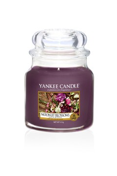 Yankee Candle Classic Mittleres Glas Moonlit Blossoms