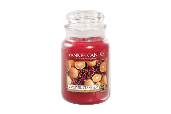 Yankee Candle Classic Großes Glas Mandarin Cranberry
