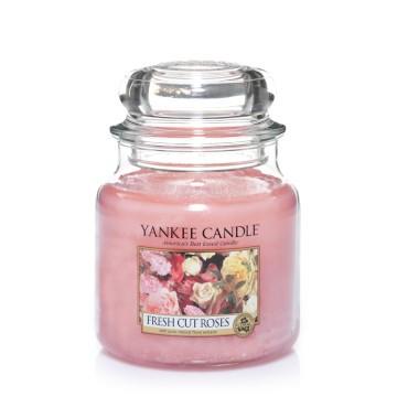 Yankee Candle Klassik Mittleres Glas Fresh Cut Roses