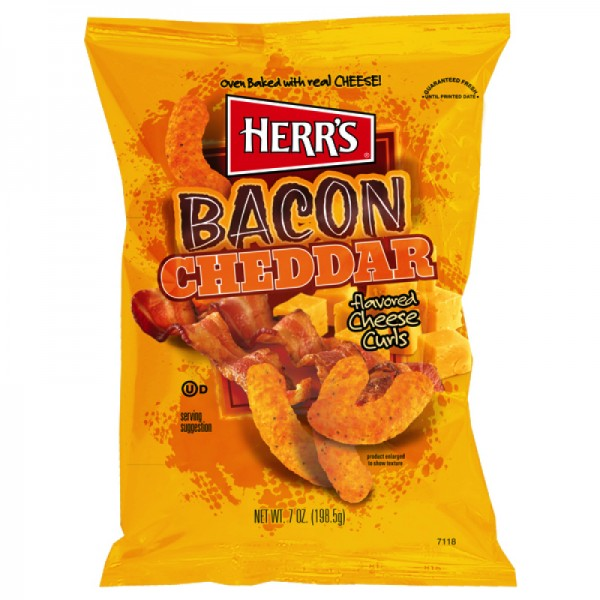 Herr´s Bacon Cheddar flavored Cheese Curl