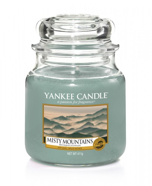 Yankee Candle Classic Mittleres Glas Misty Mountains