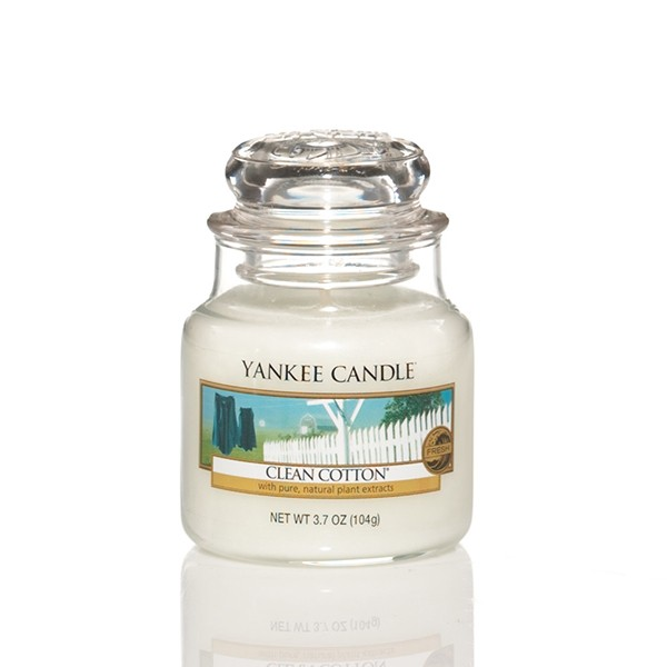 Yankee Candle Classic Kleines Glas Clean Cotton®