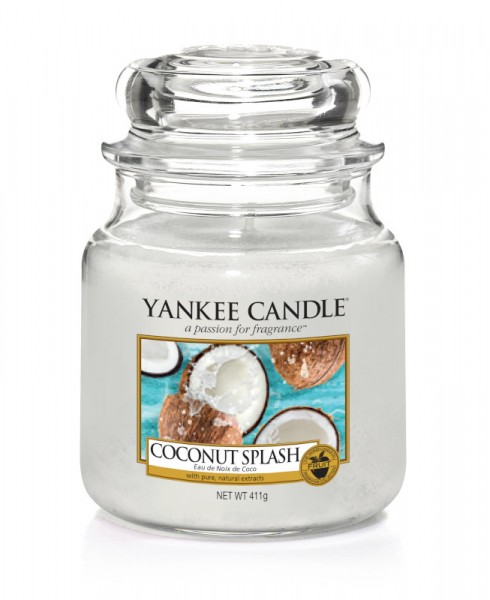 Yankee Candle Classic Mittleres Glas Coconut Splash