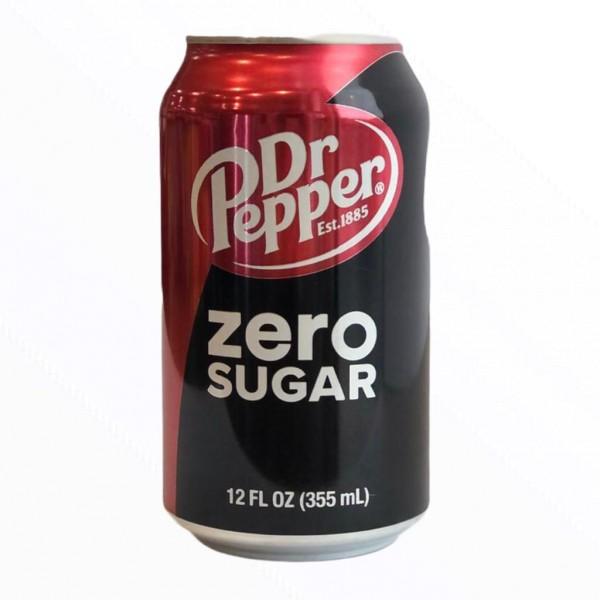 Dr Pepper Zero Sugar (Dose) 355 ml.