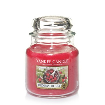 Yankee Candle Classic Mittleres Glas Red Raspberry