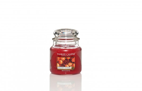 Yankee Candle Classic Mittleres Glas Mandarin Cranberry