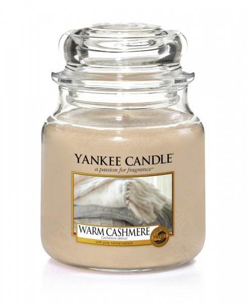 Yankee Candle Klassik Mittleres Glas Warm Cashmere