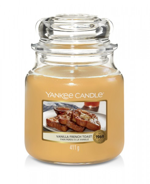 Yankee Candle Classic Mittleres Glas Vanilla French Toast