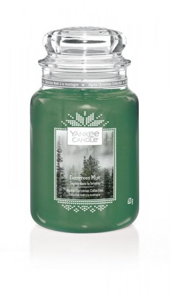 Yankee Candle Klassik Großes Glas Evergreen Mist