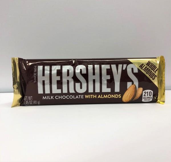 Hershey's Bar Milk Chocolate & Almonds 43g