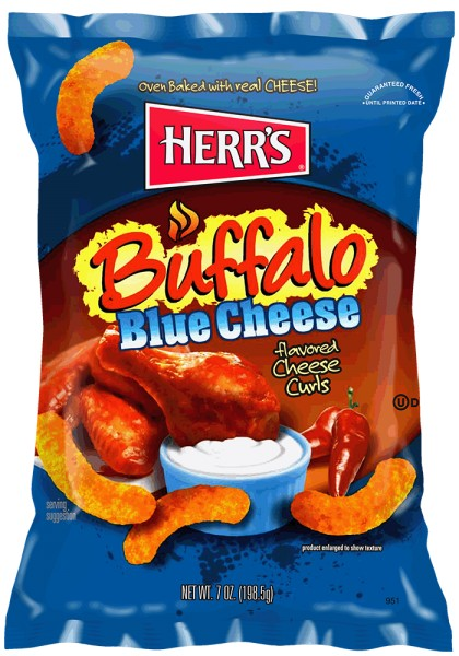 Herr´s Buffalo Blue Cheese Flavored Cheese Curls
