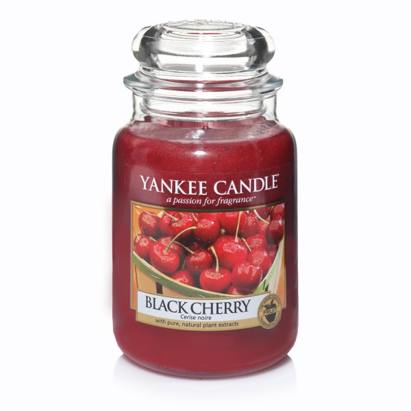 Yankee Candle Classic Großes Glas Black Cherry