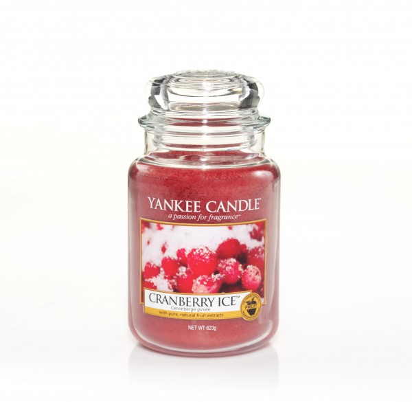 Yankee Candle Classic Großes Glas Cranberry Ice™