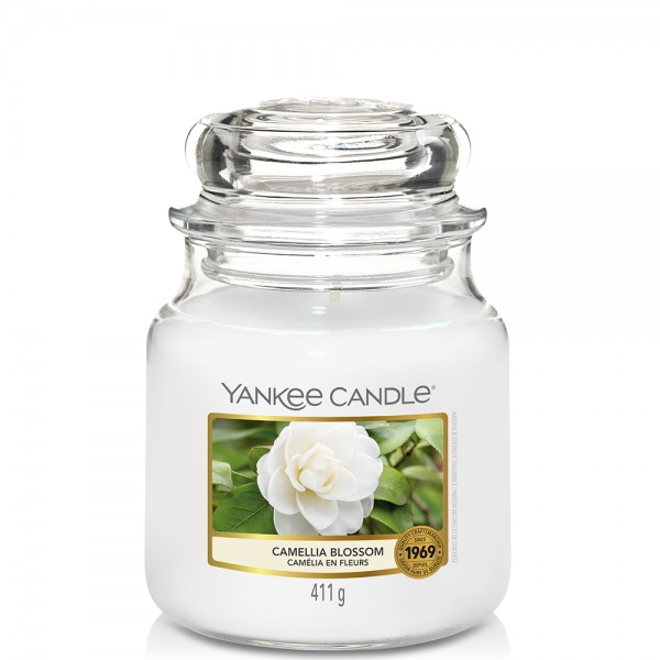 Yankee Candle Classic Mittleres Glas Camellia Blossom