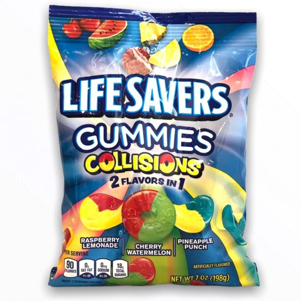 Life Savers Bag - Gummies Collisions 2 Flavors in 1