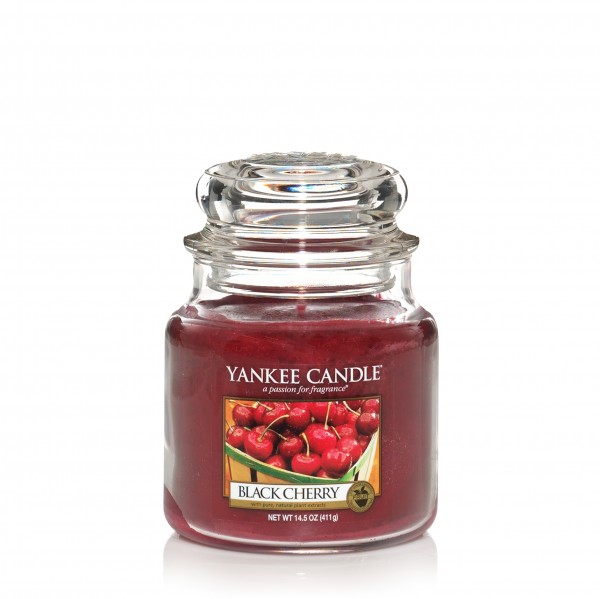 Yankee Candle Classic Mittleres Glas Black Cherry