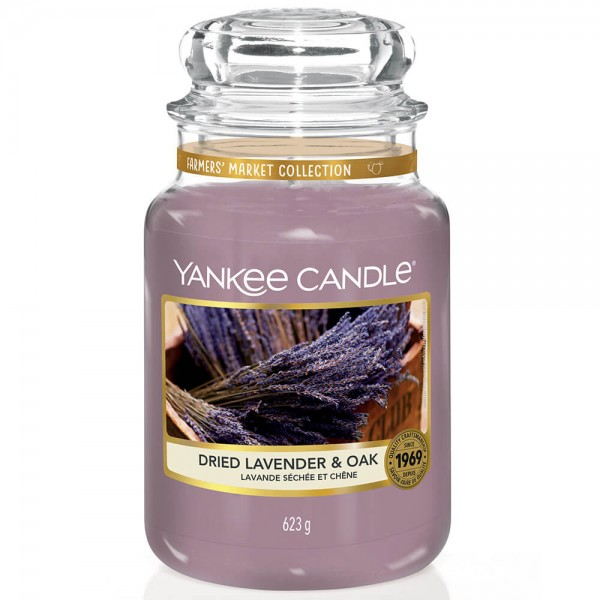 Yankee Candle Classic Großes Glas Dried Lavender & Oak