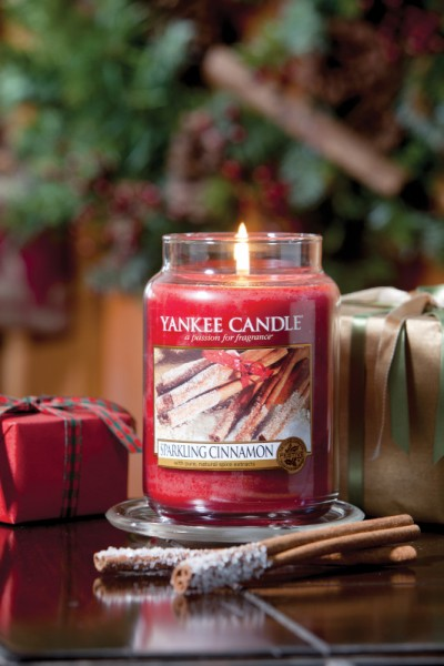 Yankee Candle Classic Großes Glas Sparkling Cinnamon