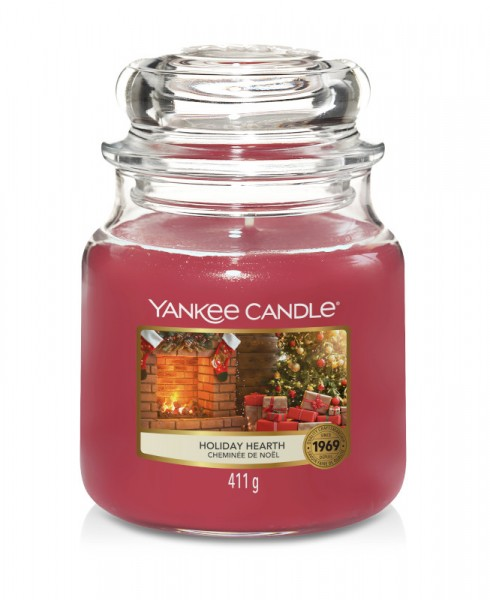 Yankee Candle Classic Mittleres Glas Holiday Hearth