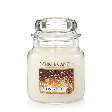 Yankee Candle Klassik Mittleres Glas All is Bright
