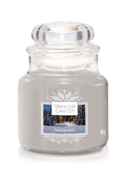 Yankee Candle Classic Kleines Glas Candlelit Cabin
