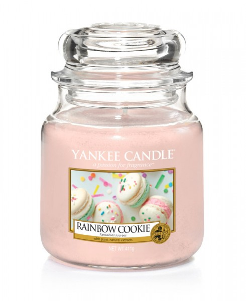Yankee Candle Classic Mittleres Glas Rainbow Cookie