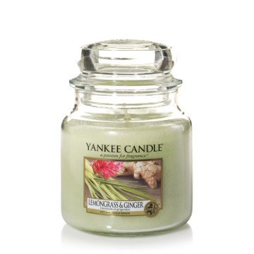 Yankee Candle Classic Mittleres Glas Lemongrass & Ginger