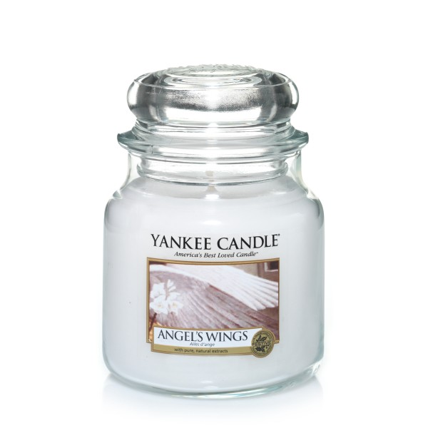 Yankee Candle Classic Mittleres Glas Angel's Wings