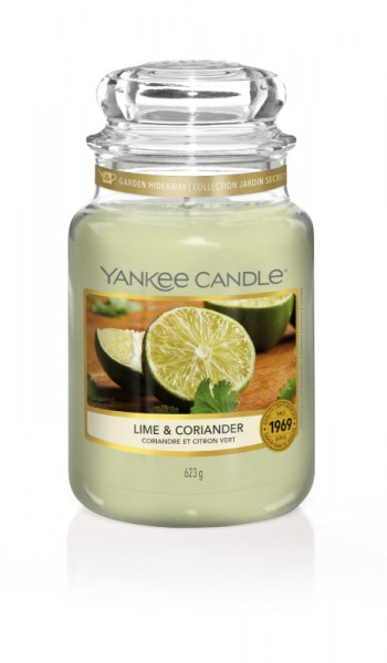 Yankee Candle Classic Großes Glas Lime & Coriander