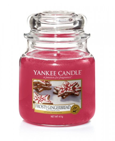 Yankee Candle Classic Mittleres Glas Frosty Gingerbread