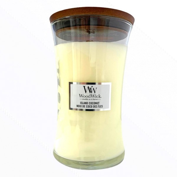 Wood Wick Candle Großes Glas Island Coconut