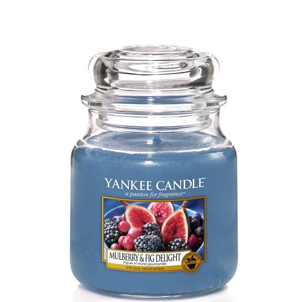 Yankee Candle Klassik Mittleres Glas Mulberry & Fig Delight